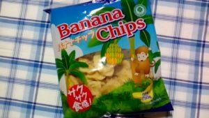 業務スーパーのバナナチップスのサルパッケージ
