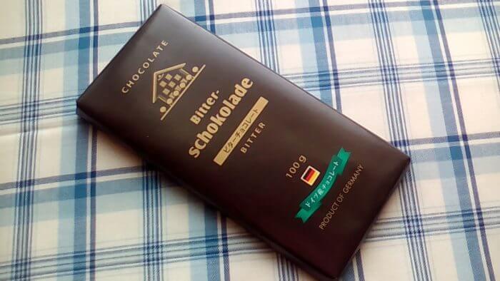業務スーパーのドイツ産チョコレートのビターチョコレートのパッケージ