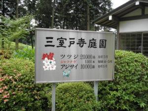 三室戸寺庭園の看板