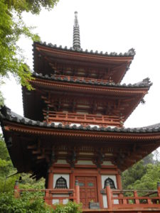 三室戸寺の三重の塔