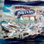 業務スーパーのチューイングキャンディは袋のわりに中身が短かったのです。ミルク味のみおすすめします。