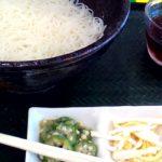 はなまるうどんの素麺の感想。麺はこしがなくて短くて家で食べる方がおいしいけれどつゆは美味しかったのです。