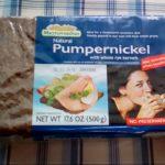アイハーブで買えるライ麦パン パンプニッケルの重みがすごい これはパンですか?って問いかけたくなるレンガ感です。