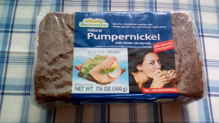 アイハーブで買えるライ麦パンのパンプニッケル(プンパニッケル)