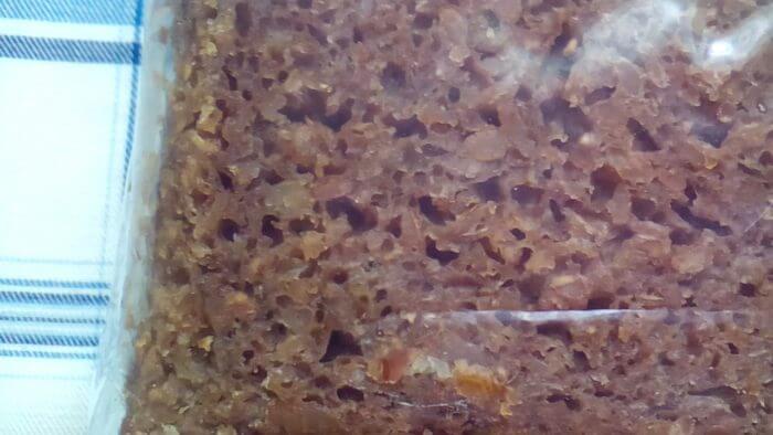アイハーブで買えるライ麦パンのパンプニッケル(プンパニッケル)のキメ