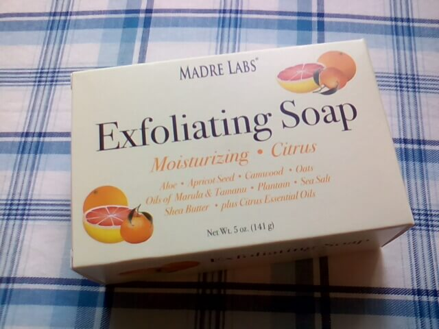 アイハーブのお試し品で買ってみた石鹸 Exfoliating Soapの箱