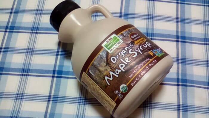 アイハーブで買ったNow Foods, オーガニックメープルシロップ、グレードA、ダークカラー、16 fl oz (473 ml)