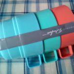100均ダイソーのプラスチックスタッキングマグカップは歯磨き用コップにぴったりです。