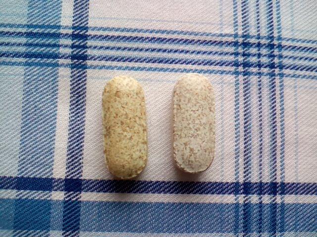 アイハーブで買ったエスターCの錠剤の色の変化