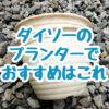 100均ダイソーのプランターでおすすめは2個で100円の白い5号鉢。強度があり見栄えがいいです。