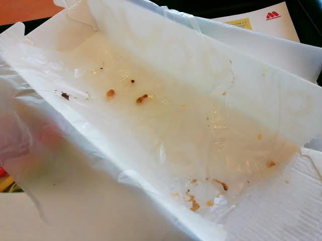 モスのナンタコスを食べ終わったところ