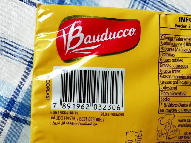 業務スーパーのブラジル産ウエハースのバニラ味のバーコード