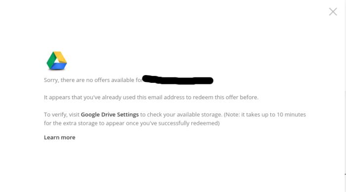 Chromebookの特典を重ねてもらおうとした場合の画面