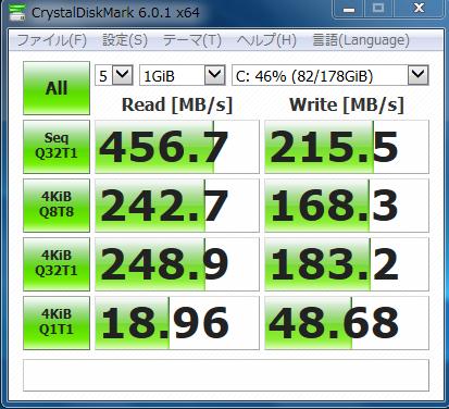 キングストンのSSDの速度改善