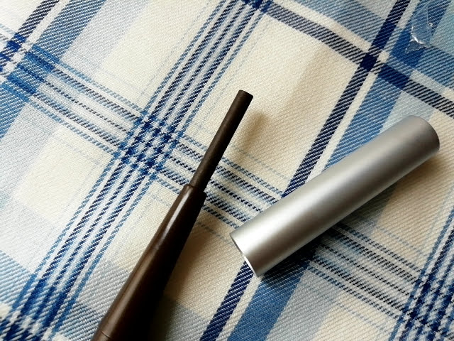 ダイソーのアイブローペンシル楕円芯ダークブラウンの芯の量