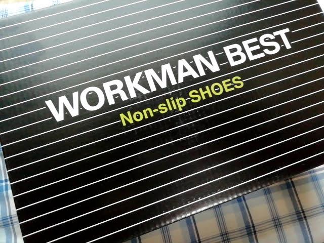 ワークマンのノンスリップシューズの箱