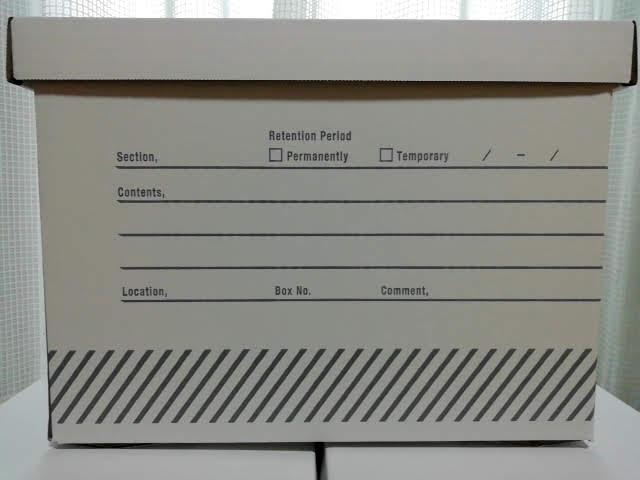 ダイソーのペーパーボックス COMFY BOXの横面
