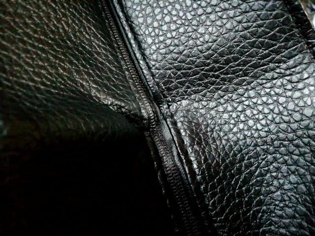 モノマックス1月号の付録のビームスのトートの折り目のチャック部分