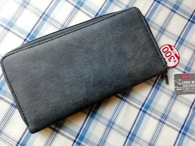 ダイソー300円商品の長財布 デニム柄