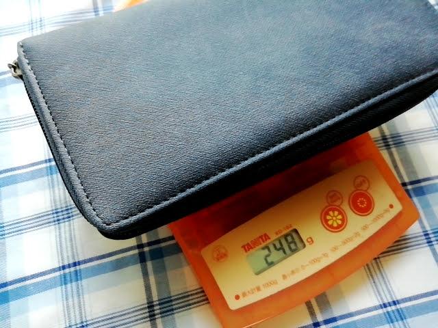ダイソー300円商品の長財布の重さは248g