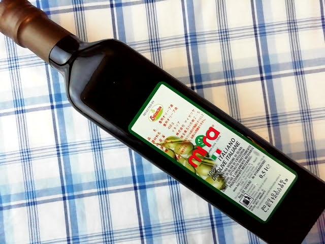 サイゼリヤのオリーブオイルmiraの瓶