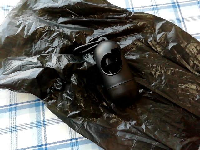 100均キャンドゥの携帯ゴミ袋ケースの黒色のゴミ袋の大きさ
