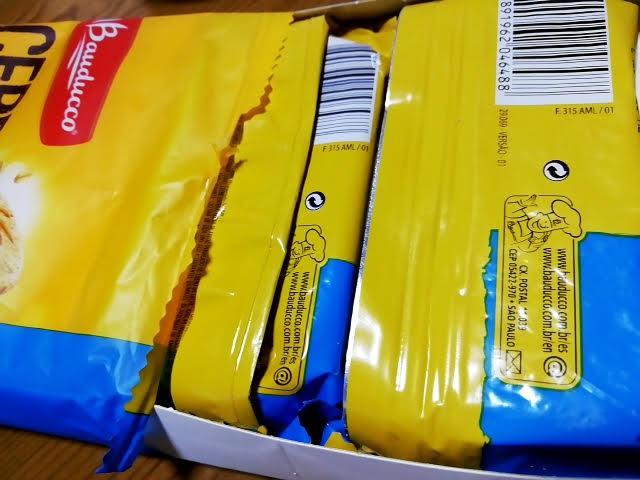 業務スーパーのシリアルビスケット(ミルクグラノーラ入り)は小包装3つ入り