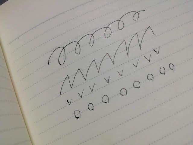 ブレンの書き始めのインクだまり