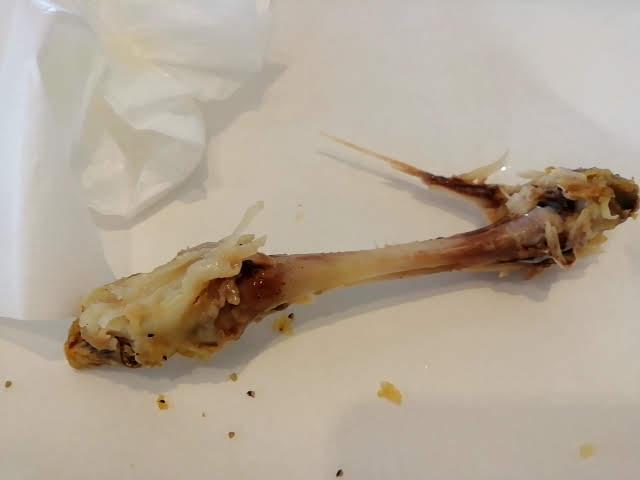 ケンタッキーフライドチキンの旨塩のドラムの骨