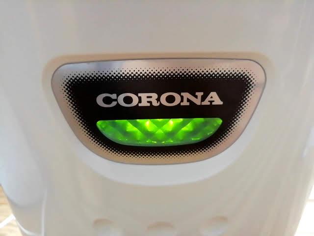 コロナの除湿機 CD-P63A の運転のランプ