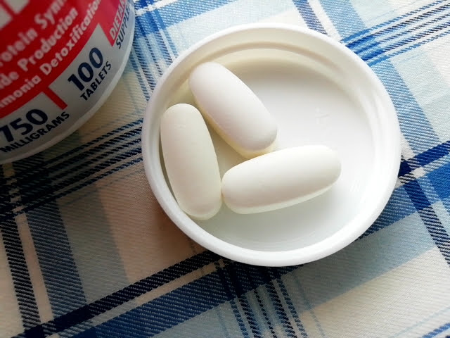 アイハーブのアルギニン&シトルリン サステインの錠剤の大きさ
