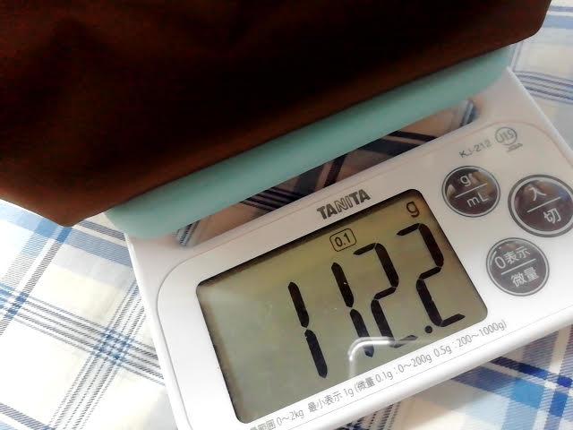 ユニクロの990円のナイロン ミニショルダーバッグの重さは112g
