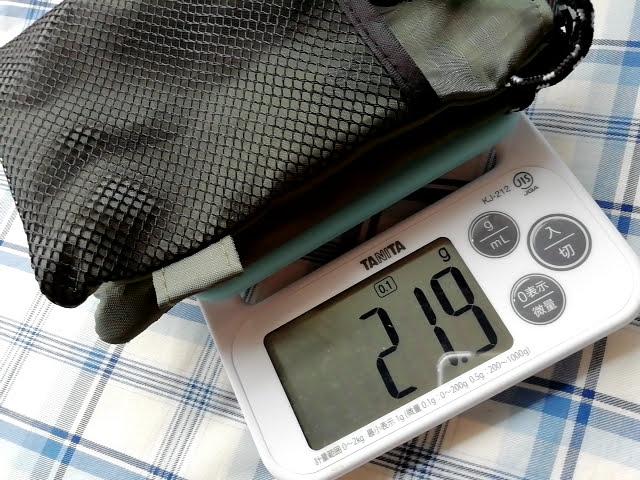 100均ダイソーのサコッシュの重さは22g