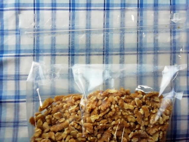 楽天で買った安いクルミ チリ産生クルミLHP 950g メール便 送料無料は袋が大きめです