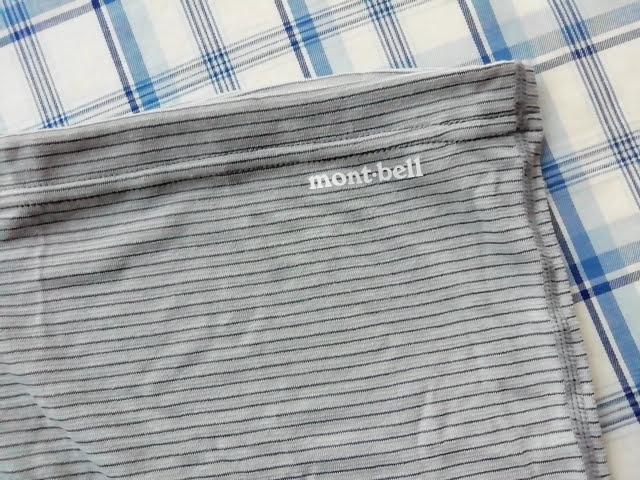 モンベルのジオライン L.W. ウエストウォーマーのmont-bellのロゴ