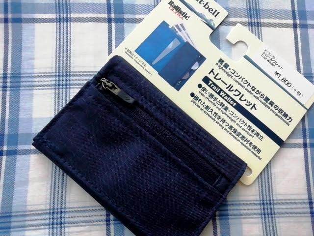 mont-bellの小さなお財布のトレールワレット税抜き1,800円