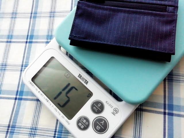 mont-bellの小さなお財布のトレールワレットは15g