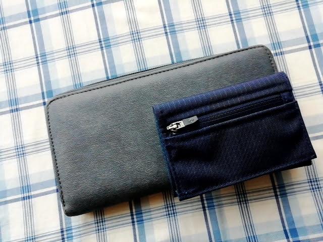mont-bellの小さなお財布のトレールワレットと長サイフの比較