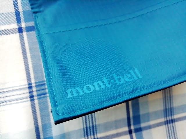 mont-bellの小さなお財布のトレールワレットのロゴ