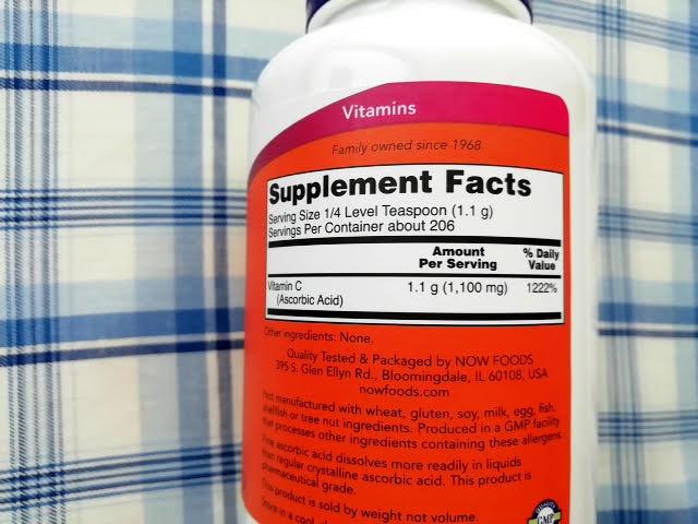 アイハーブの Now Foods, ビタミンCクリスタル、8オンス(227 g)の成分表示