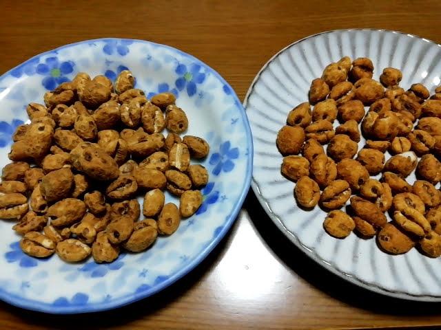 坂金製菓のむぎスナックと南国製菓のムギムギ