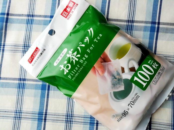 100均ダイソーのお茶パック100枚入り日本製