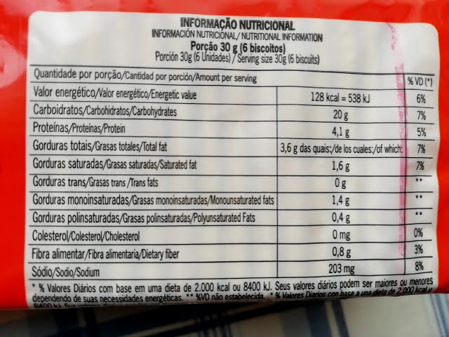 業務スーパーのマリラン クリームクラッカーの栄養成分表示