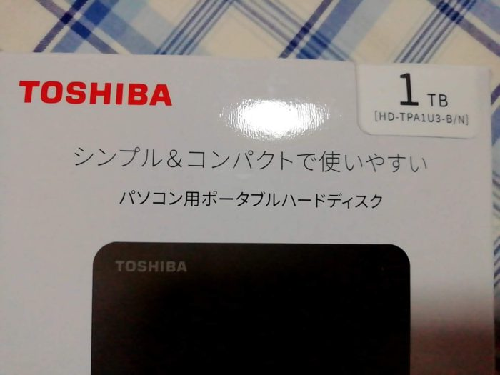 東芝 Canvio 1TB ポータブルHDD HD-TPA1U3-B/N