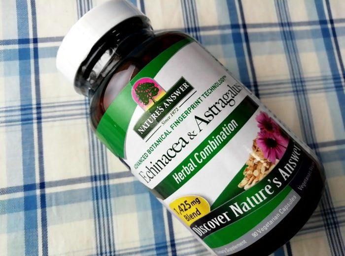 Nature's Answer, エキナセア & アストラガルス、 1425 mg、 90植物性カプセルの瓶