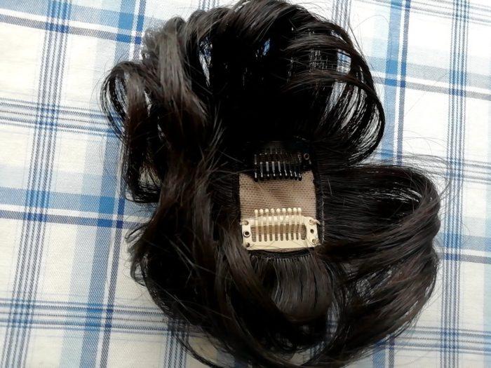 プリシラの白髪かくしウイッグ つむじタイプ ナチュラルブラックの裏側