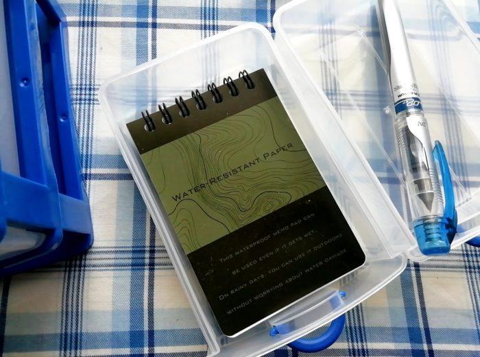 100均ワッツのミニドロアーboxの3段はミニのメモ帳なら入る