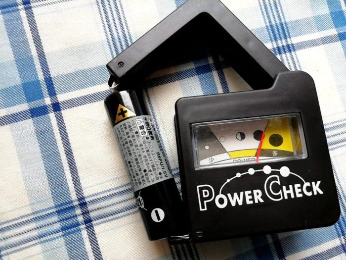 100均ワッツの乾電池残量パワーチェックで電池を測定