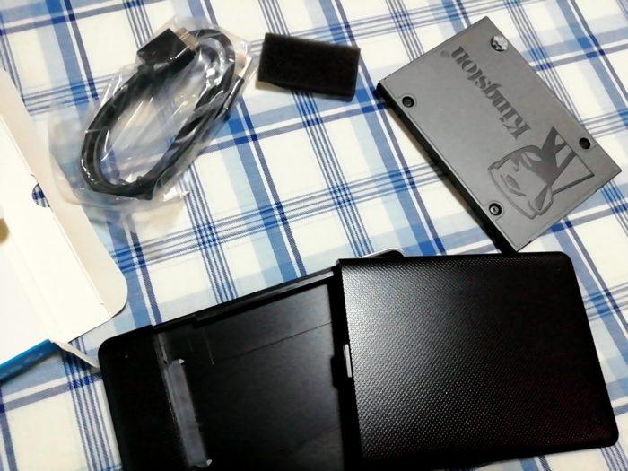 ORICO 2.5インチ HDDケースにパソコンから取り出したSSDを入れる