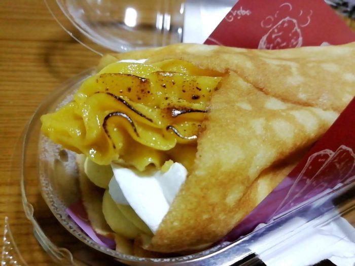 ファミマの安納芋のクレープの芋クリーム